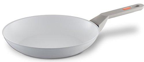 Berndes Veggie White Induction Bratpfanne 24 cm 079747 l Neuheit mit Antihaft-Keramik l Pfanne sehr hitzebeständig und robust l Induktion