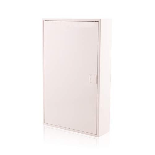 Sicherungskasten 3 reihig für 36 Module IP40 Aufputz mit DIN Schiene Weiß Tür für die Trockenraum Installation im Haus