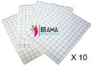 Bramacartuchos - 10 X Hojas de Papel transfer para Camisetas Negras de Algodon para Hp Canon Brother Epson