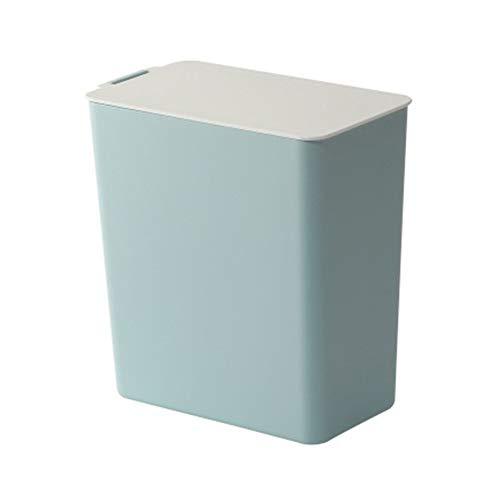 SSGLOVELIN Rifiuti di plastica Spazzatura Desktop di casa Coperchio Stile Nordico Mini Storage Cucina bin Uncategorized (Color : Blue)
