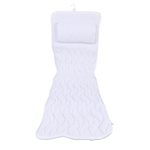 흡입 컵 욕조 방수 베개 PVC 거품 샤워 베개 스파 목욕 베개 목 및 어깨 지원 베개 14 비 슬립 강한 흡입 컵 청소 편안하고 내구성이 쉽습니다