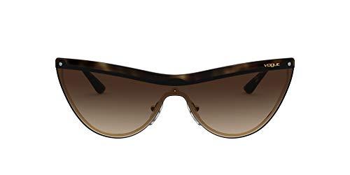 Vogue 0vo4148s Occhiali da Sole, Marrón (Dark Havana Gold/Brown Gradient), 39 Donna