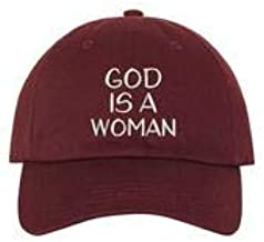 The Hat Connection - God is A Woman Embroidered Unisex Hat - Arianna Grande Hat