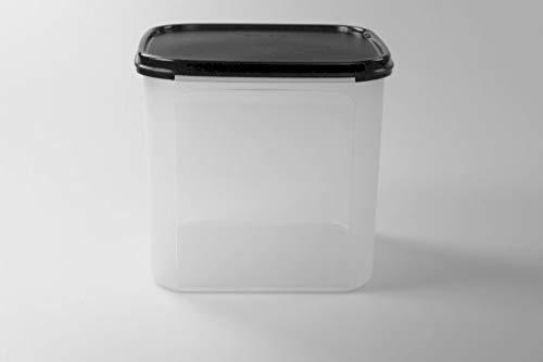 Tupperware Eidgenosse 4,0 L schwarz Quadratisch Kompaktbehälter Vorrat Modular