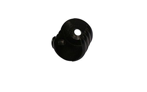 iso-design Wandlager aus Metall für Gardinenstangen mit 16 mm Durchmesser schwarz