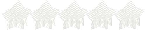 Darice 33069 Canevas Star, Plastique, Transparent, 8,26 x 8,26 x 0,03 cm