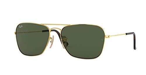 Ray-Ban RB3136 181 Unisex Caravan Sunglasses (Havana Gold Frame/Dark Green Lens 181, 55)