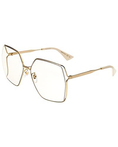 Gucci Occhiali da sole GG0817S 005 occhiali Donna colore Oro lente giallo taglia 65 mm