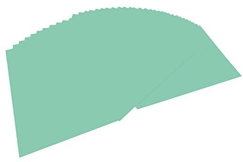 folia 6425 - Tonpapier mint, DIN A4, 130 g/qm, 100 Blatt - zum Basteln und kreativen Gestalten von Karten, Fensterbildern und für Scrapbooking