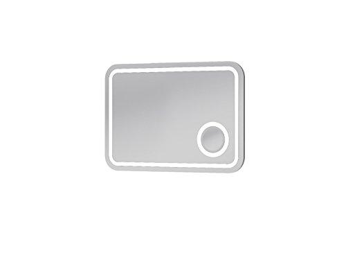 Lampspegel badrumsmöbler med LED-belysning och rörelsebrytare | Integrerad förstoringsspegel * kosmetikspegel | Mått: 80 cm x 55 cm x 13 cm ((BxHxT) | Märke BOTTICELLI * Serie RIMINI Modern design | 100 % nöjdhetsgaranti | Hög smutsavvisande * vatten