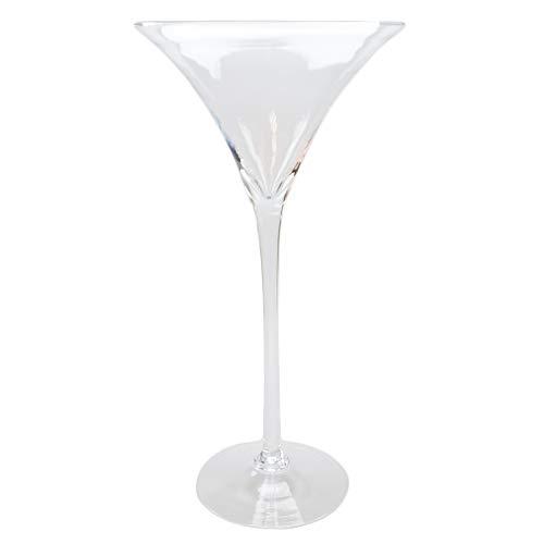 Martiniglas Höhe 50cm Ø 25cm, Dekoglas Martiniglas mittel als XXL Glas in ausgefallener Form