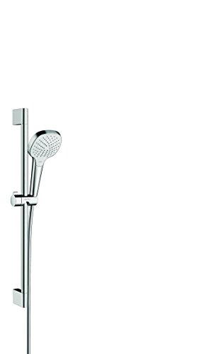 hansgrohe Croma Select E Duschset 0,65m, 3 Strahlarten, Weiß/Chrom