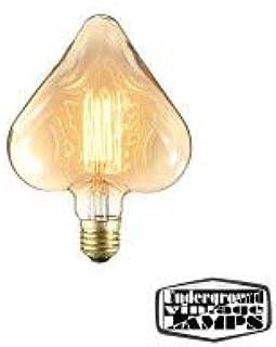 Vintage Lamp Bulb Heart 40W E27 Decorative Filament