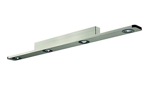 Evotec LIGHT WAVE LED Deckenleuchte 4-flammig / 2700K / 24W / 1440 Lumen, Aluminium, 24 W, nickel gebürstet/schwarz, DL 1100