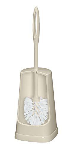 WENKO 23441100 WC-Garnitur Simple beige - WC-Bürstenhalter, 12 x 40,5 x 12 cm, beige