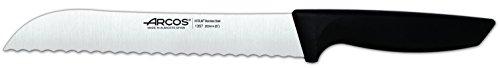 Arcos Serie Niza - Juego de Cuchillos de 6 piezas (5 Cuchillos + 1 Tijeras) - Hoja de Acero Inoxidable NITRUM - Mangos…