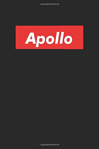 Apollo: Notebook Gift for Apollo Red Box, 120 Pages, 6 x 9 inches, Apollo Men Gifts journal, Father's Day Gift , Gift Idea for Apollo