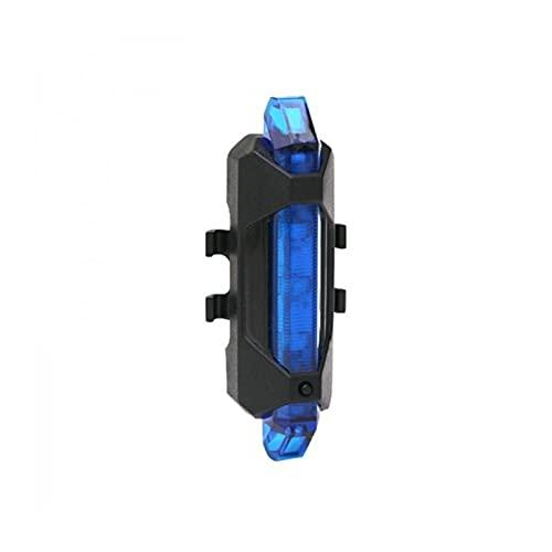 HHDZ Thdzcp Luz de Bicicleta a Prueba de Agua Trasero Trasero LED Estilo USB Recargable o batería Bicicleta Portátil Luz portátil (Color : Blue)