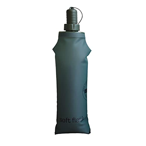 Soft Flask Botella De Agua Blanda TPU, 500 Ml Plegable A Prueba De Fugas Sin Bpa, Ideal para Mochila De HidratacióN para Correr Ciclismo Senderismo (Verde)