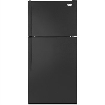 Whirlpool: W8TXNGMW 18 cu. ft. Top-Freezer Refrigerator with Fixed Door Storage, SpillMizer Glass Shelves and Factory Installed Automatic Ice Maker