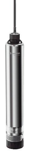 Gardena Premium Tiefbrunnenpumpe 6000/5 inox: Brunnenpumpe aus rostfreiem Edelstahl mit 6000l/h Fördermenge, inkl. integriertem Thermoschutzschalter (1492-20)