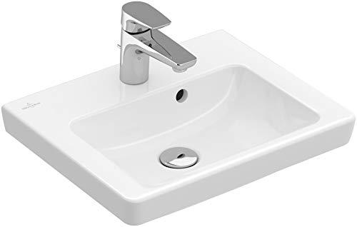 Villeroy & Boch Handwaschbecken Subway 73155G 50x40cm Hahnloch durchgest mit Überlauf weiß, 73155G01