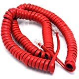 Telephone Cord Handset Curly - Phone Color Crimson Red 15ft - Works on virtually all Trimline Phones and Princess Telephones - Landline Telephone Accessory iSoHo Phones