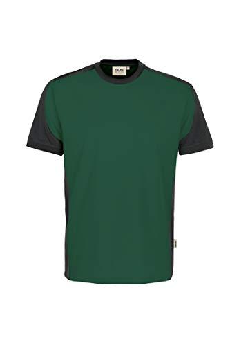 HAKRO T-Shirt Contrast Performance, Tanne/anthrazit, 4XL