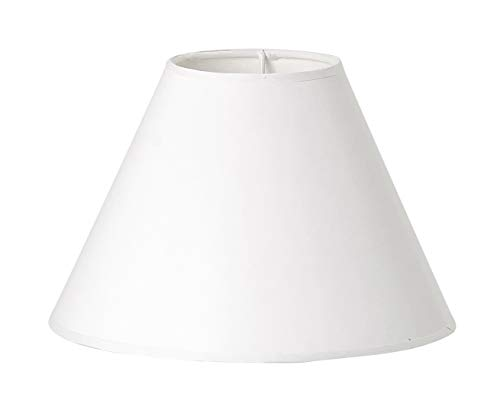 VBS Lampenschirm weiß oval Ø 23cm (unten) 10cm (oben) rund blanko Landhaus Vintage Papierschirm