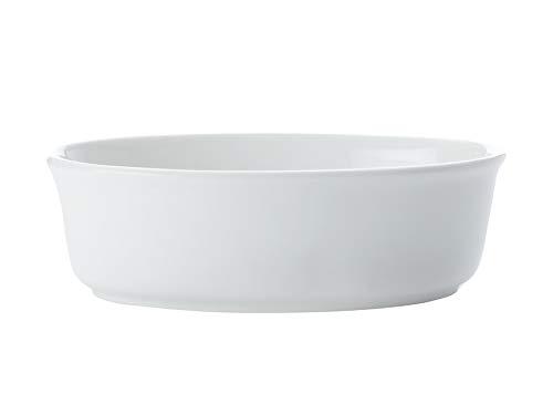 Maxwell & Williams Plat à tarte ovale White Basics MWAA06011 - 17,5 x 12,5 x 5,5 cm - Porcelaine
