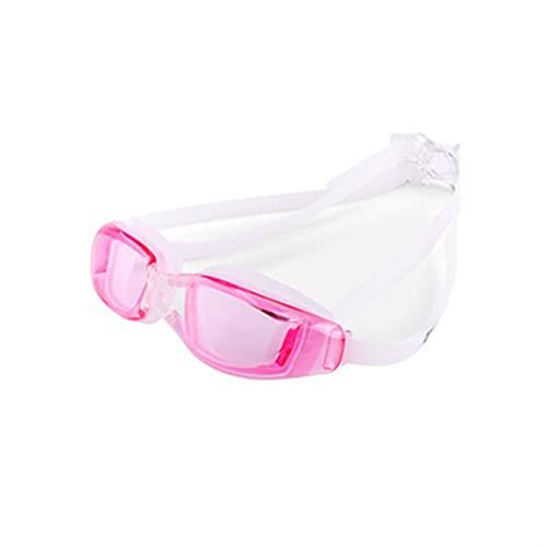 QIXIAO Gafas de natación a Prueba de Agua y Anti-Niebla de Alta definición, Gafas de natación electroplastadas de Marco Grande para Hombres y Mujeres, Gafas de natación Plana (Style : C6)