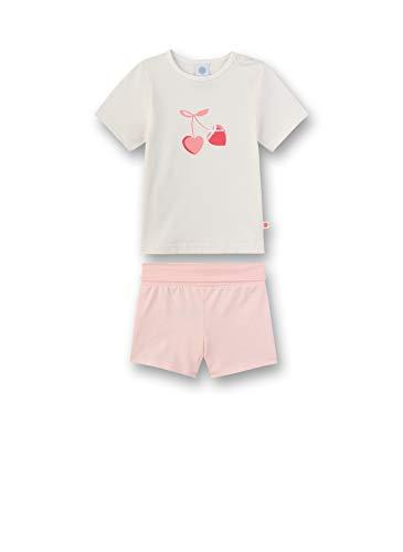 Sanetta Baby-Mädchen Pyjama lang Zweiteiliger Schlafanzug, Beige (beige 1427), 98 (Herstellergröße:098)