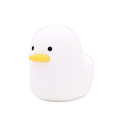 Niedliche Ente Nachtlicht Mini LED Stimmung Nachtlampe Cartoon Toy Intelligence Development Weißes Licht für Baby Schlafzimmer
