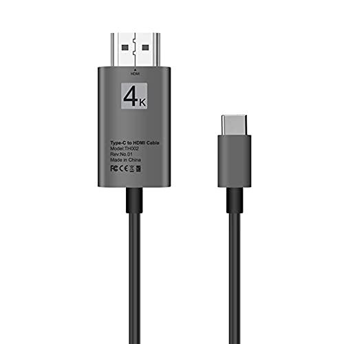 Cable tipo C a HDMI compatible para oficina en casa, cable de datos de proyección de TV móvil 4K HD para Tablet 4K Cables adaptadores para Mac-Book y así sucesivamente