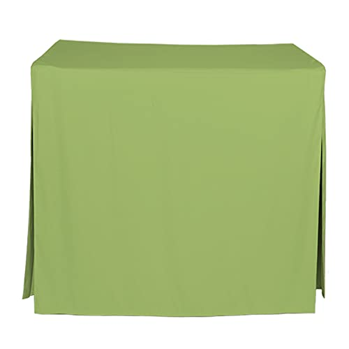 """Tablevogue Event Linens Washable Microfiber 34"""" Inch Fitted Tablecloth Cover for Square Buffet Table, Parties, Holiday Dinner & More, Pistachio"""