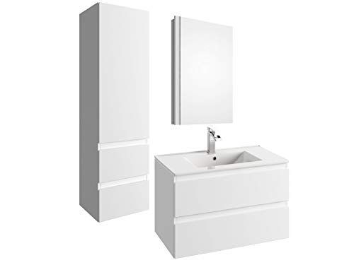 Affordable COMO Bathroom Vanities (White)