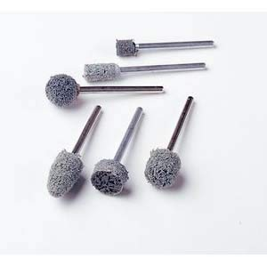 """Standard Abrasives 877062, Unitized Mounted Point, A11, 7/8 x 2"""", 1/4"""" Shank, Aluminum Oxide 5 Units/Package (2 Packages)"""