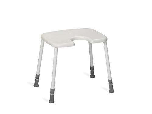 Nordic Hocker HEAVY Hygiene-Sitz Duschhocker bis 200 kg weiß Kunststoff