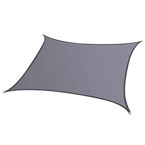 FFKL VIIPOOSun Shade Sail Canopy Rectángulo Pergola Cubierte Toldo Protección Solar Bloque UV Libre Impermeable para El Patio Al Aire Libre Gazebo Garden,Gray-3X4M