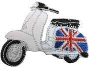 Mainly Metal–Parche planchable Lambretta Scooter Mod de bandera Union Jack gran Bretaña insignia