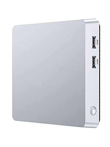 Mini PC, Windows 10 Pro Fanless Mini Computer Intel Atom Z8350 4 GB DDR3/64GB eMMC Desktop Computer Support 4K HD, HDMI+VGA Output, 2.4G/5G WiFi, Bluetooth, Gigabit Ethernet
