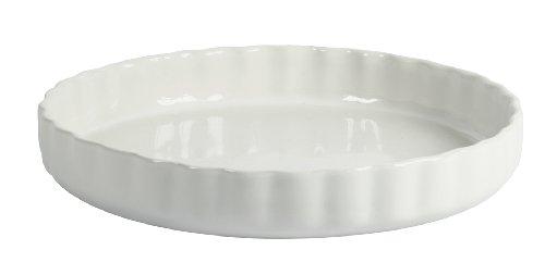 Crealys 512734 Obstkuchenform, Keramik, 28 cm, Weiß