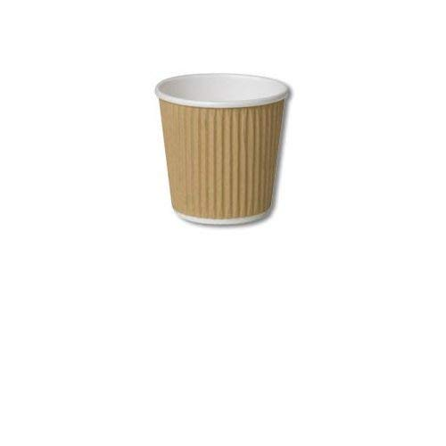 50 X 113,4 gram/120 ml Kraft Triple Paroi Ripple Tasses papier jetables