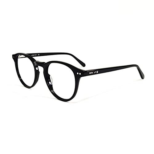 Óculos com Filtro de Luz Azul LP Vision Para Computador Celular e Games - Redondo (Preto)