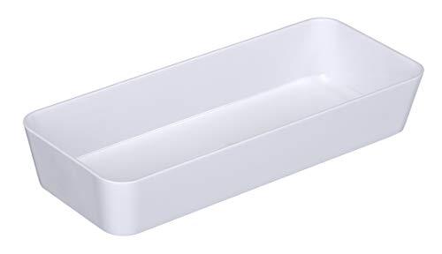 WENKO 20340100 Ablage Candy White schmal, Kunststoff - Polystyrol, 24 x 4 x 10 cm, Weiß