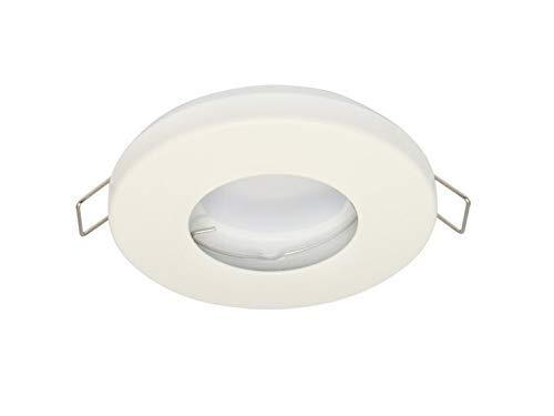 Vochtige ruimte Slim IP20/44 inbouwspot GU10 inbouwframe downlight waterdicht Ø60mm boorgat aluminium incl. GU10 fitting voor LED-lampen, rond, wit mat