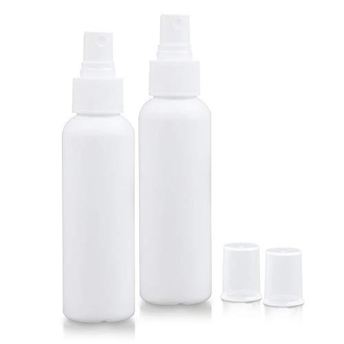 EDQZ 2Pcs 60ml Kleine Sprühflasche Nachfüllbare Kosmetische Zerstäubernebelsprühnebel Alkohol Leere Sprühflasche 2St