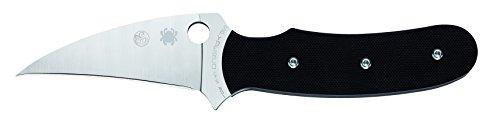 Spyderco Messer Reverse Fahrtenmesser, Schwarz, One Size