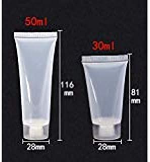 Lotion Bottles, Empty Squeeze Bottle,Empty Refillable Travel Plastic Matte Flip Cap Cosmetic Body Hand Lotion Shampoo Squeeze Bottle 50ml 10pcs and 30ml 4pcs