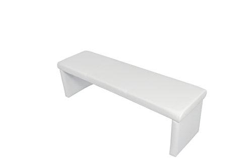 Cavadore kruk zitbank hoekbank voorbank CHARISSE/keukenbank Voorbank. 140 cm wit